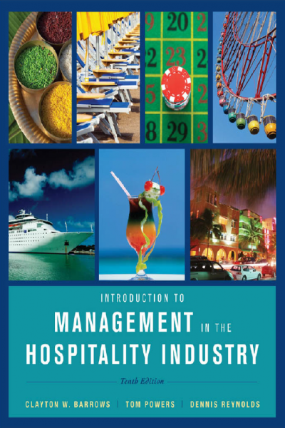 Introduction to Management in the Hospitality Industry 10th edition